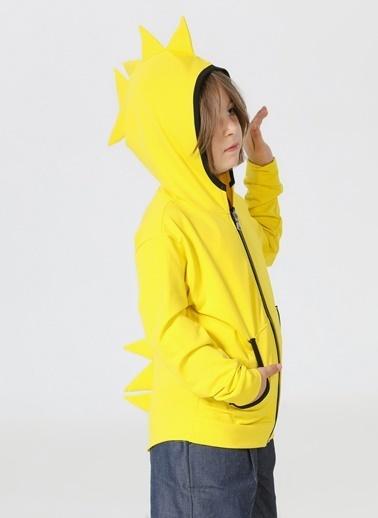Lupiakids Tırtır Fermuarlı Sarı Hırka Renkli